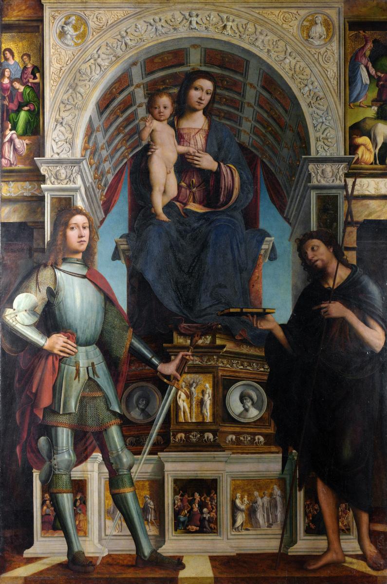 Лоренцо Коста. Дева с младенцем и святыми