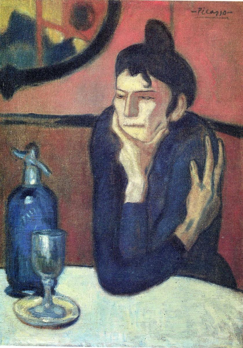 Пабло Пикассо. Раздумья за столом