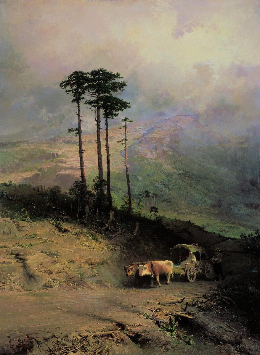 Fedor Alexandrovich Vasilyev. In the Crimean mountains