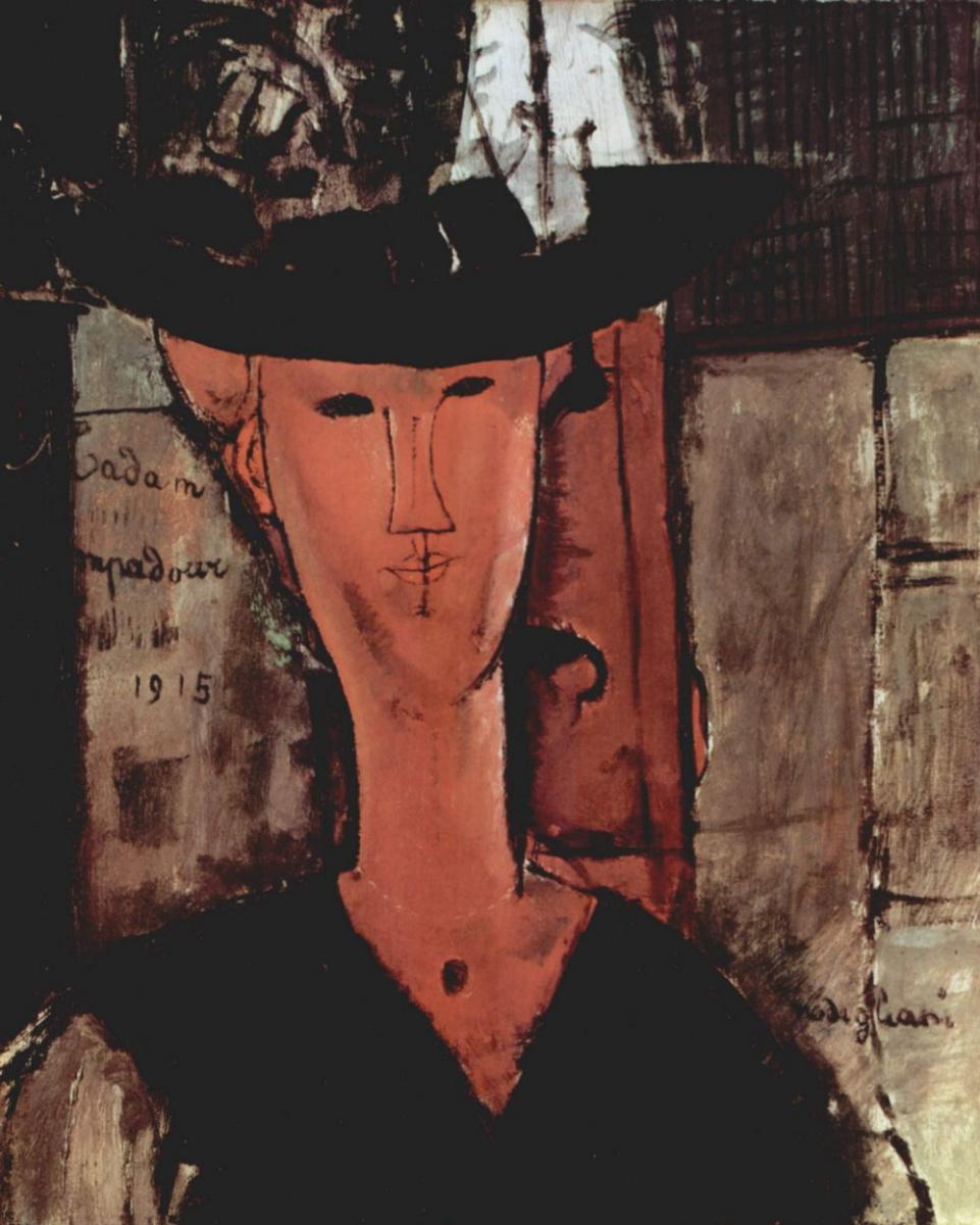Амедео Модильяни. Дама в шляпе