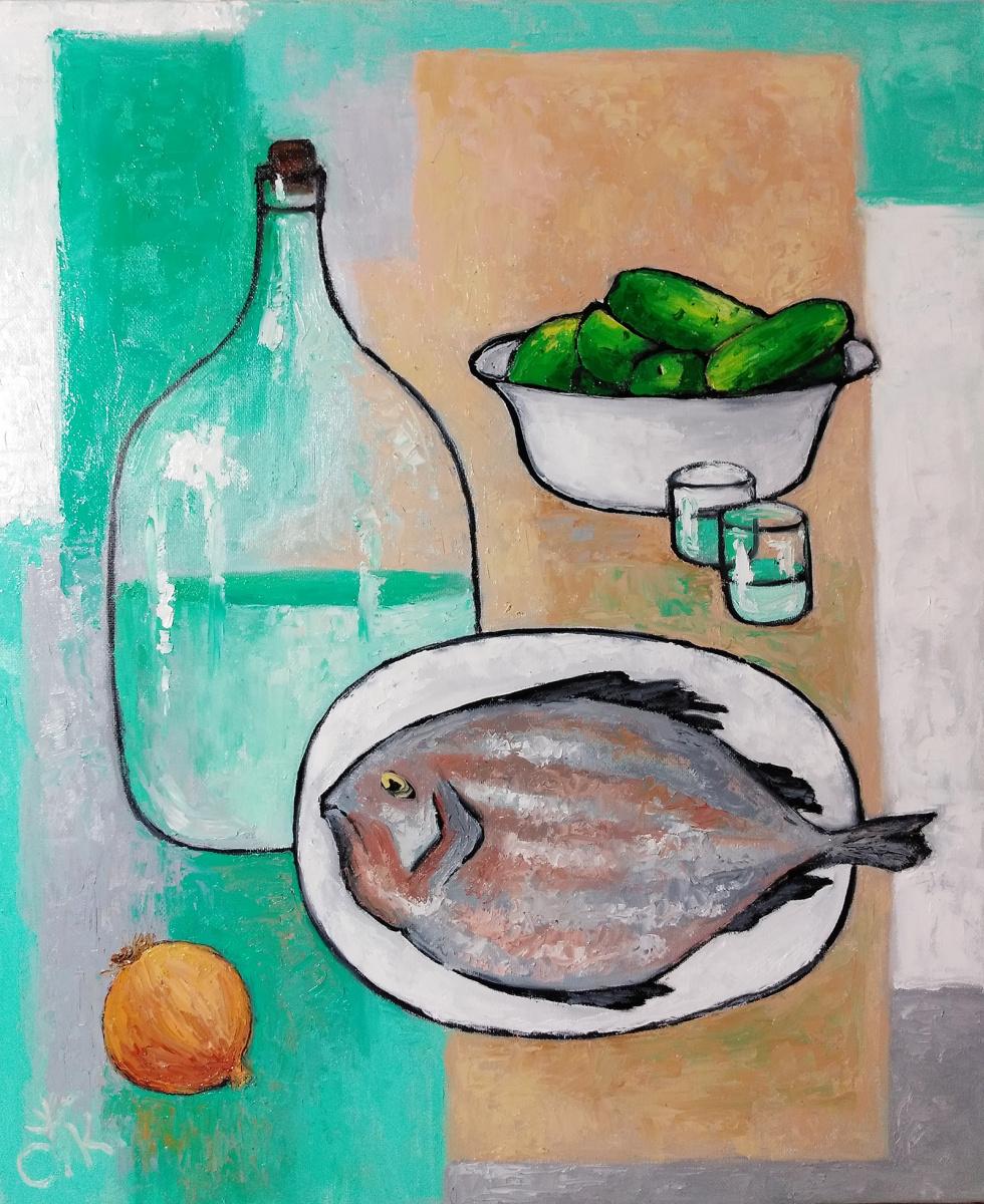 Светлана Константинова. Still life with fish