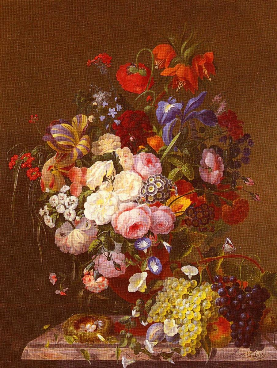 Йоханнес Хендрик Кнуп. Натюрморт с розами