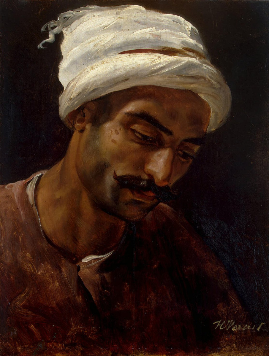 Эмиль-Жан-Орас Верне. Голова араба