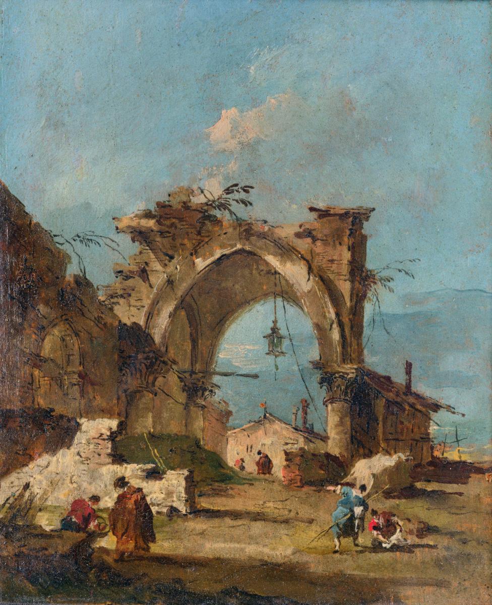 Франческо Гварди. Каприз с разрушенной аркой