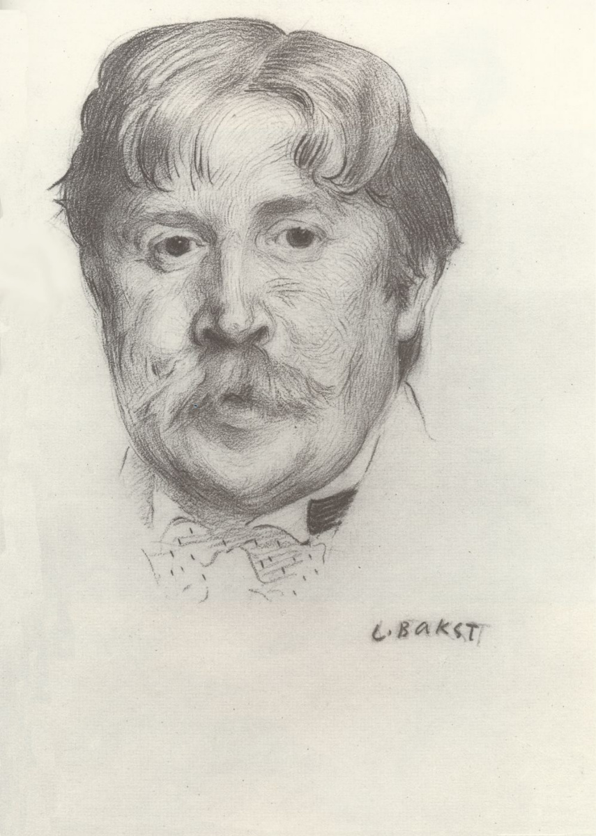 Lev Samoilovich Bakst (Leon Bakst). Portrait of the artist Alexander Yakovlevich Golovin