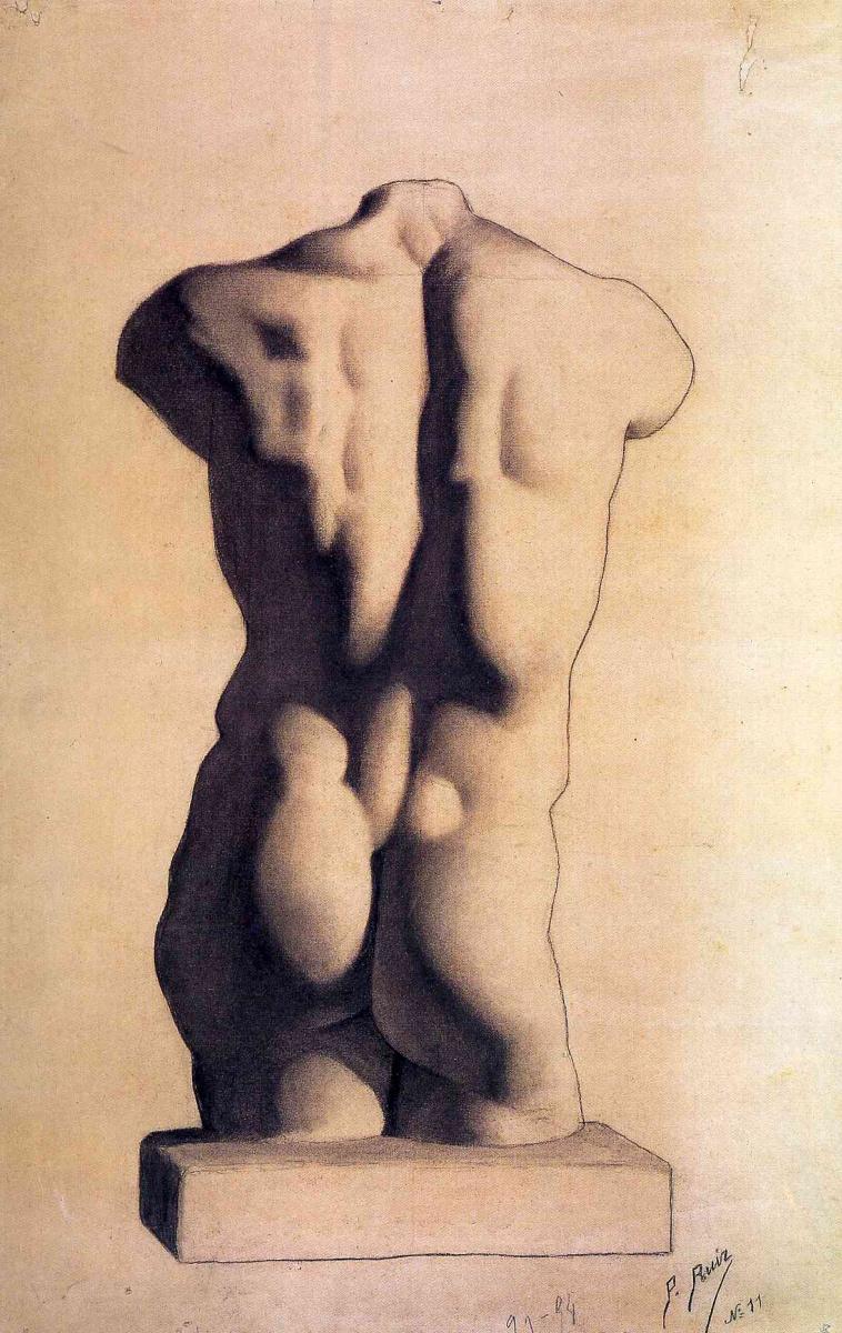Пабло Пикассо. Мужской торс из гипса