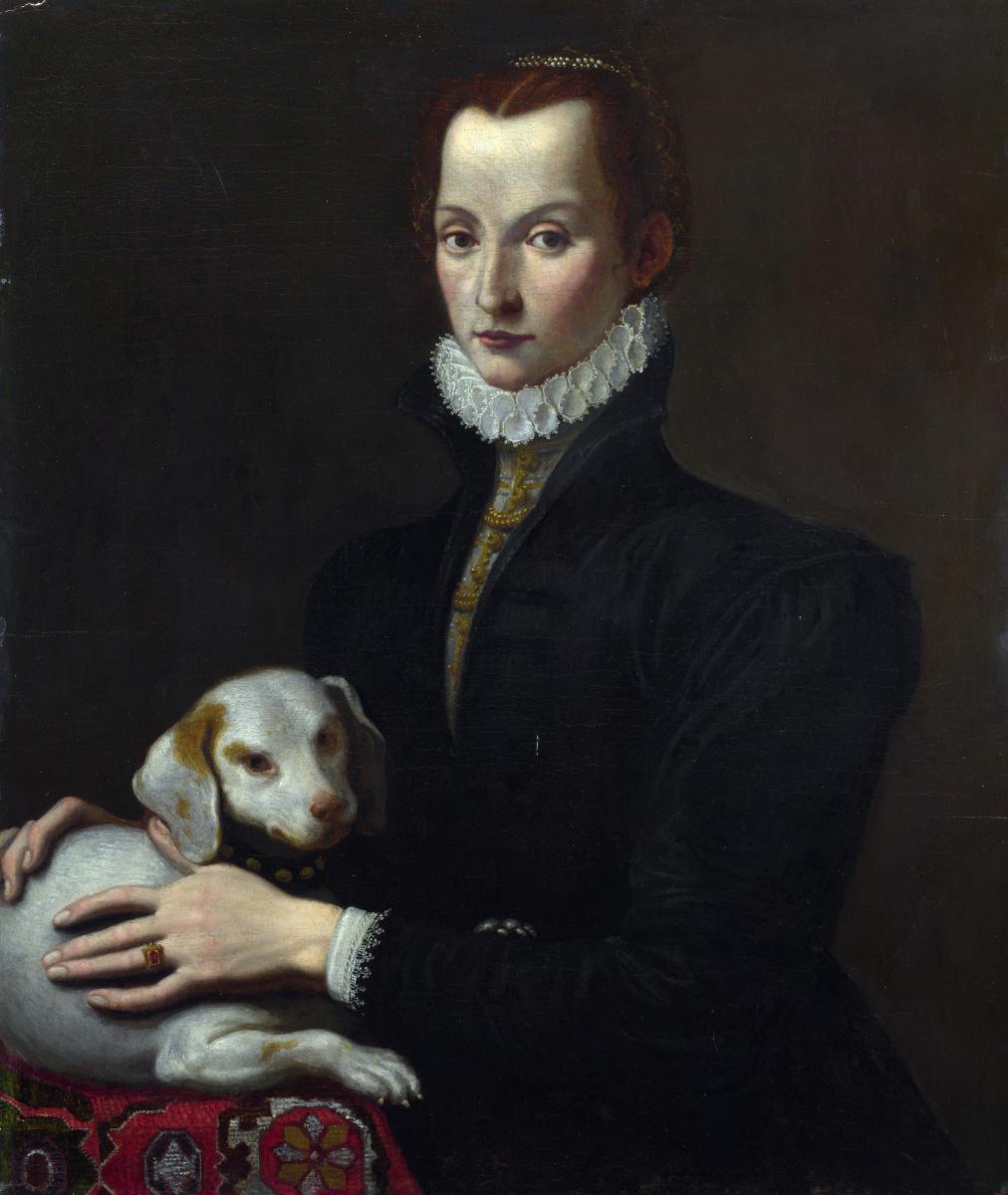 Итальянский. Портрет леди с собакой