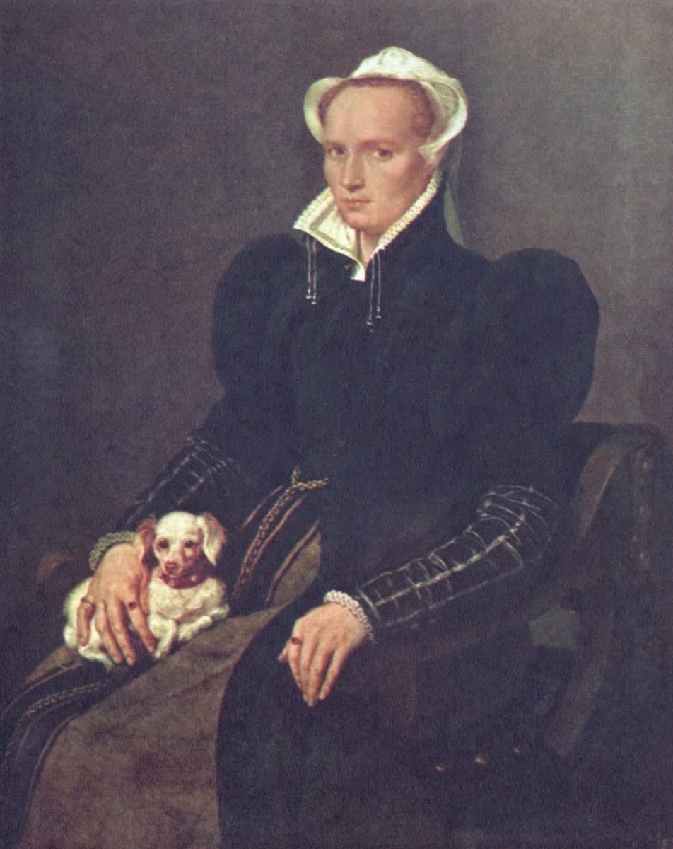 Антонис ван Дасхорст Мор. Портрет Метхен, жены художника
