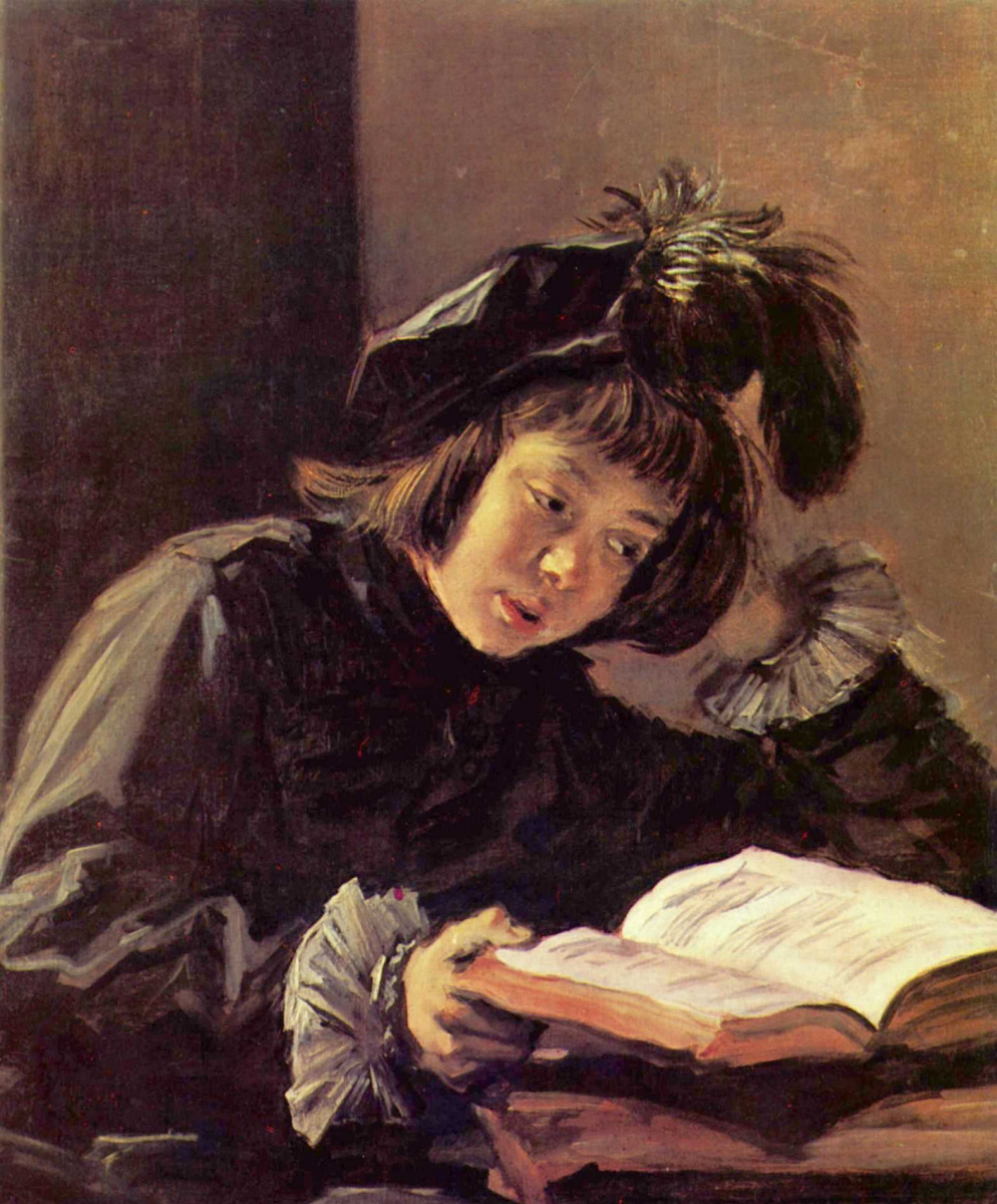 Frans Hals. Reading boy (Possibly a portrait of the artist's son)