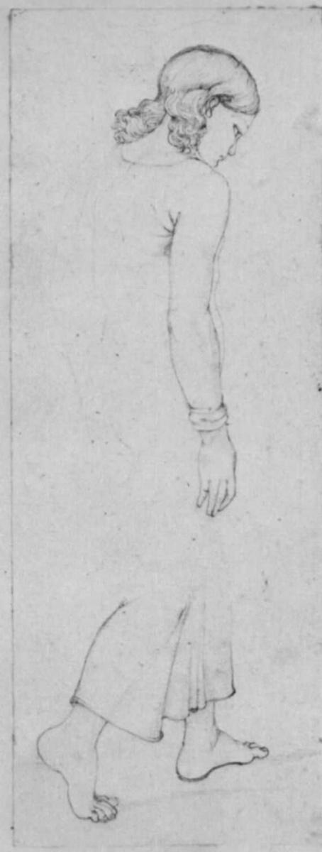 Франц Пфорр. Идущий мальчик в длинной одежде