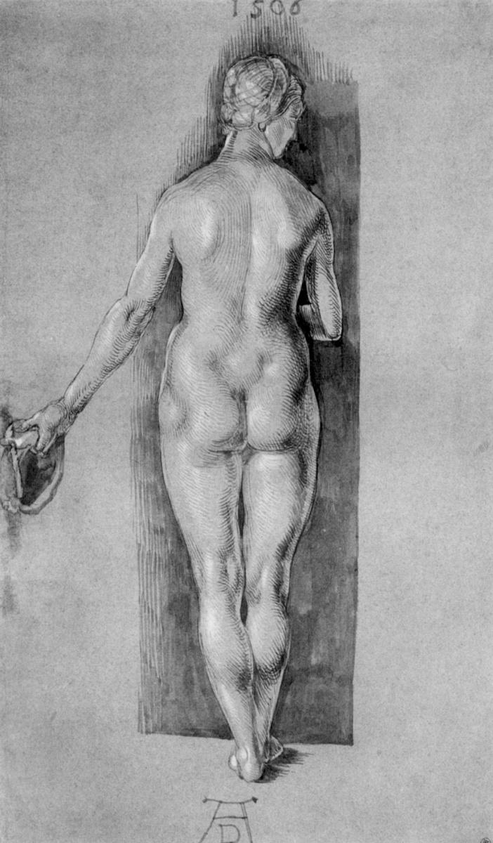 Альбрехт Дюрер. Обнаженная, фигура со спины