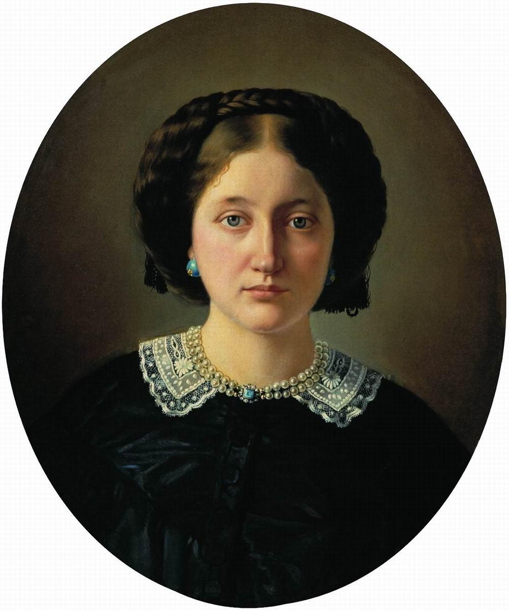 Sergey Konstantinovich Zaryanka. Portrait of Varvara Alexandrovna Jordan, nee Pushchina