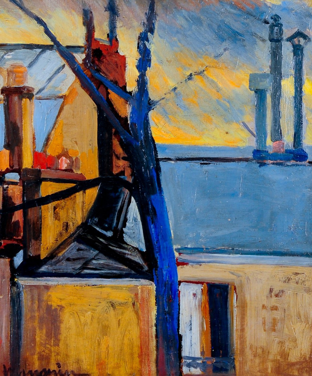 Henri Manguin. The tree and roof