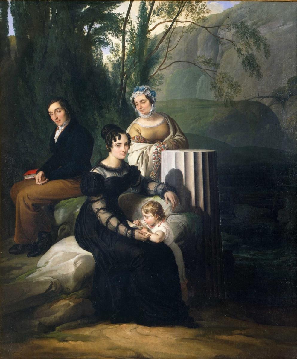Francesco Ayets. Portrait of the Borri Stampa di Sonico Family