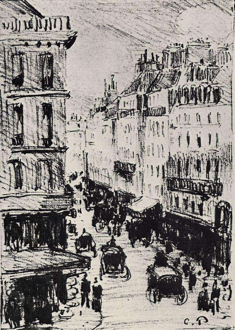 Камиль Писсарро. Улица Сен-Лазар в Париже