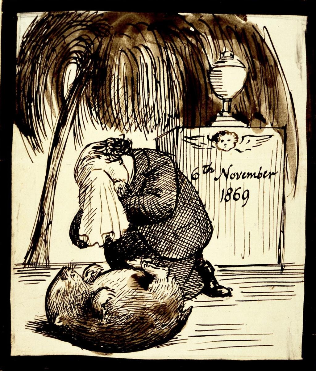 Dante Gabriel Rossetti. Rossetti mourns the wombat