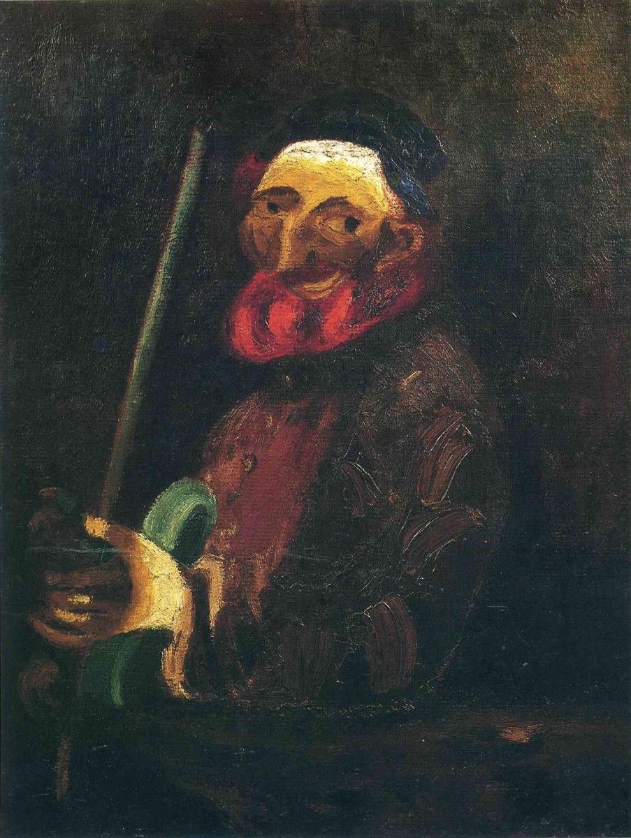 Марк Захарович Шагал. Музыкант со скрипкой