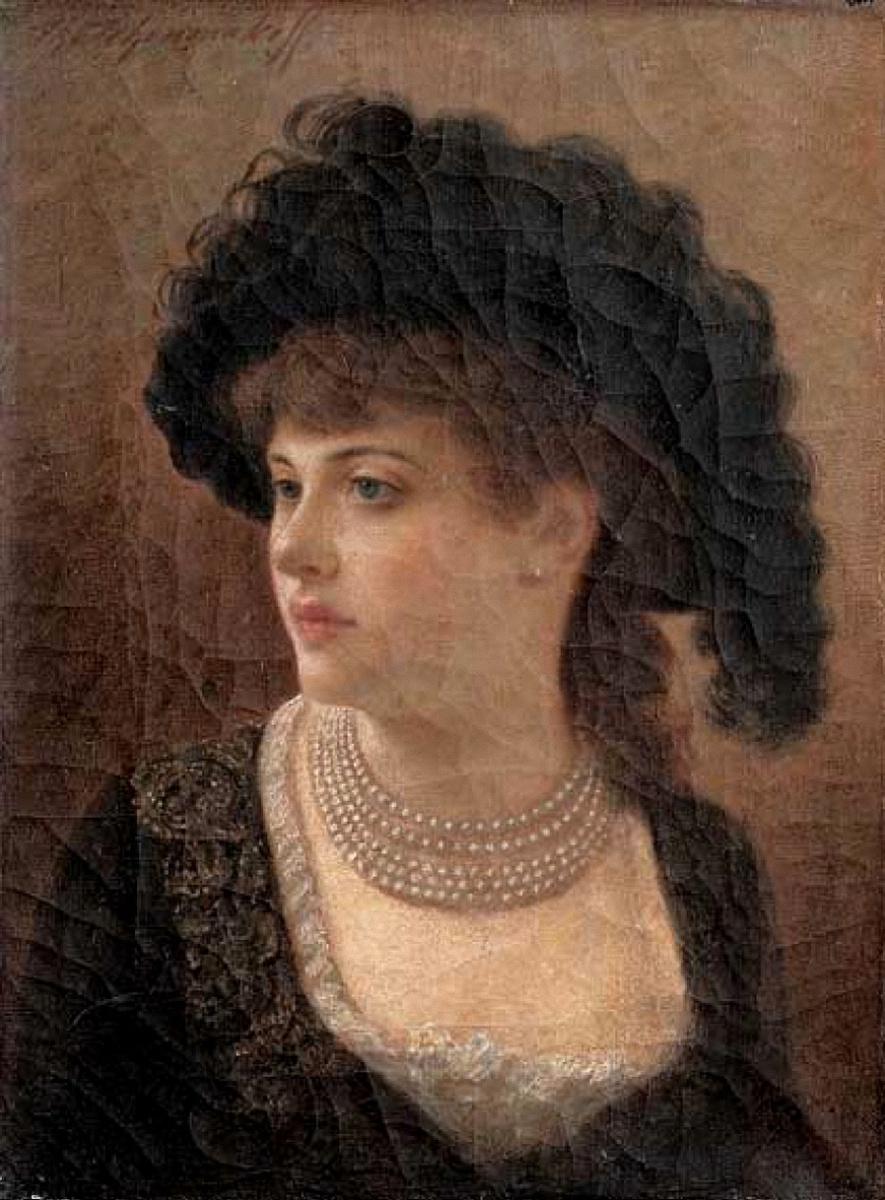 Федор Петрович Чумаков. Женский портрет.