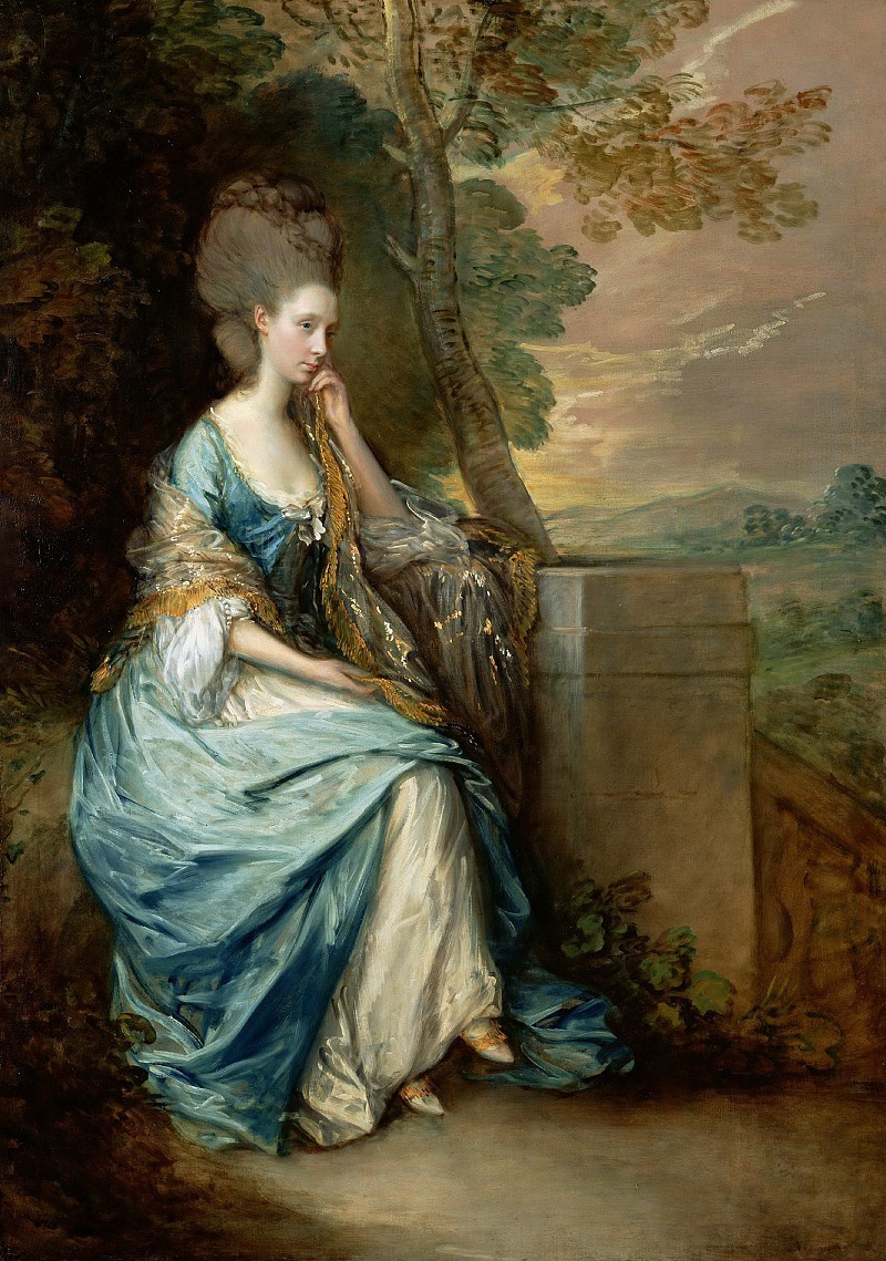 Thomas Gainsborough. Portrait of Countess Anna Chesterfield