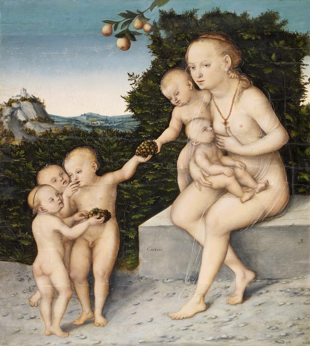 Лукас Кранах Младший 1515-1586. Милосердие. ок.1540