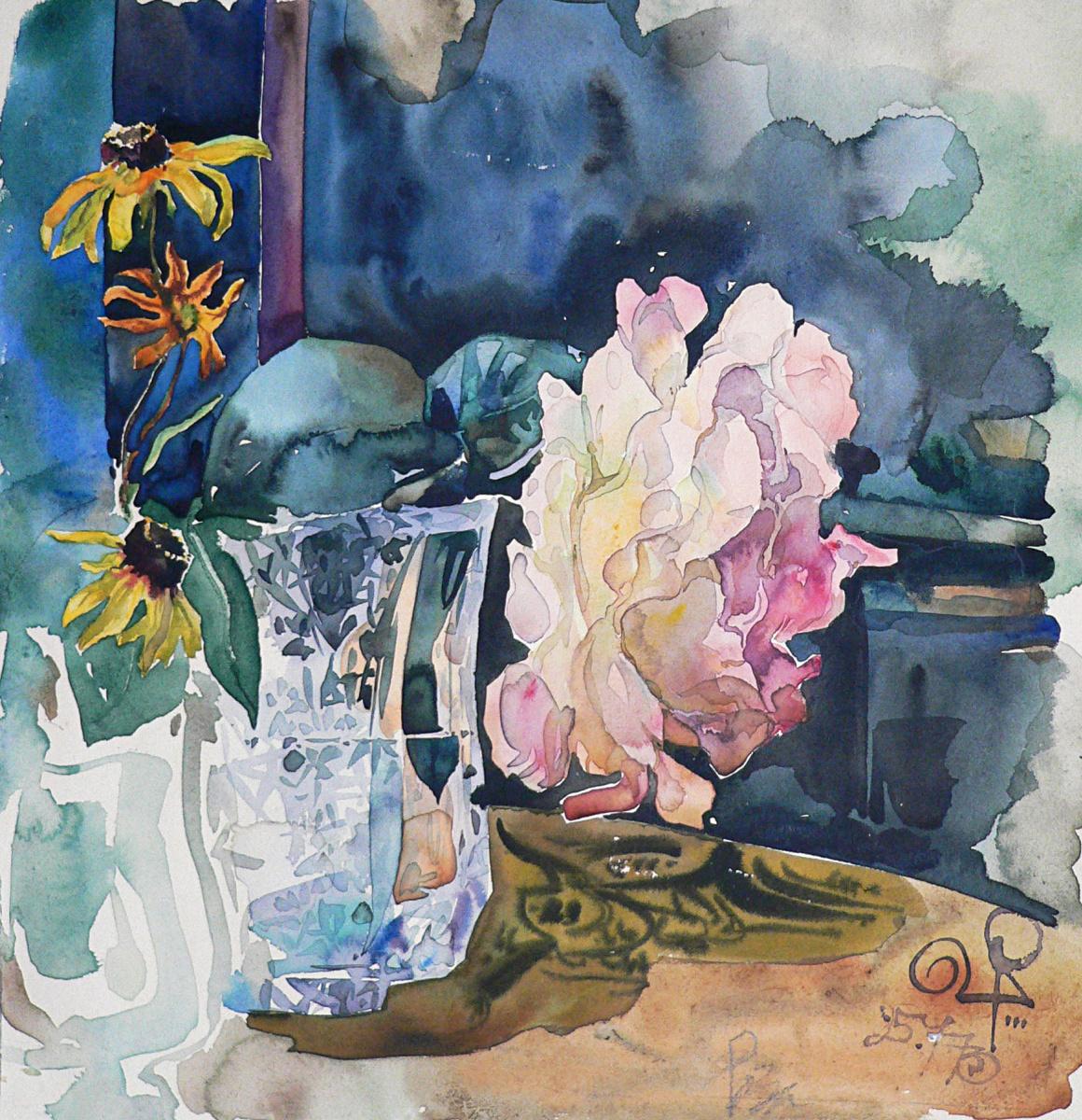 Vladimir Vasilyevich Plastinin. Tea rose