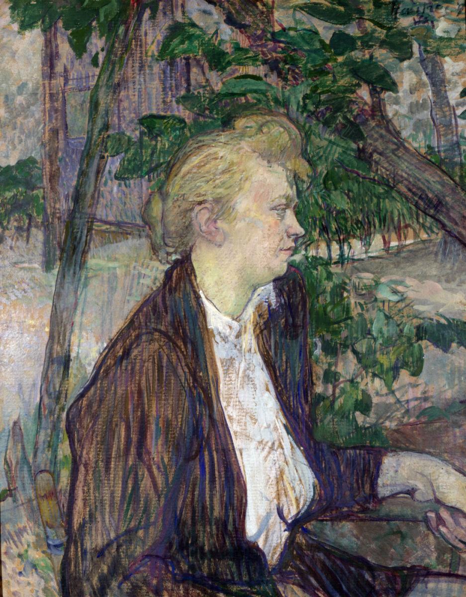 Анри де Тулуз-Лотрек. Женщина, сидящая в саду