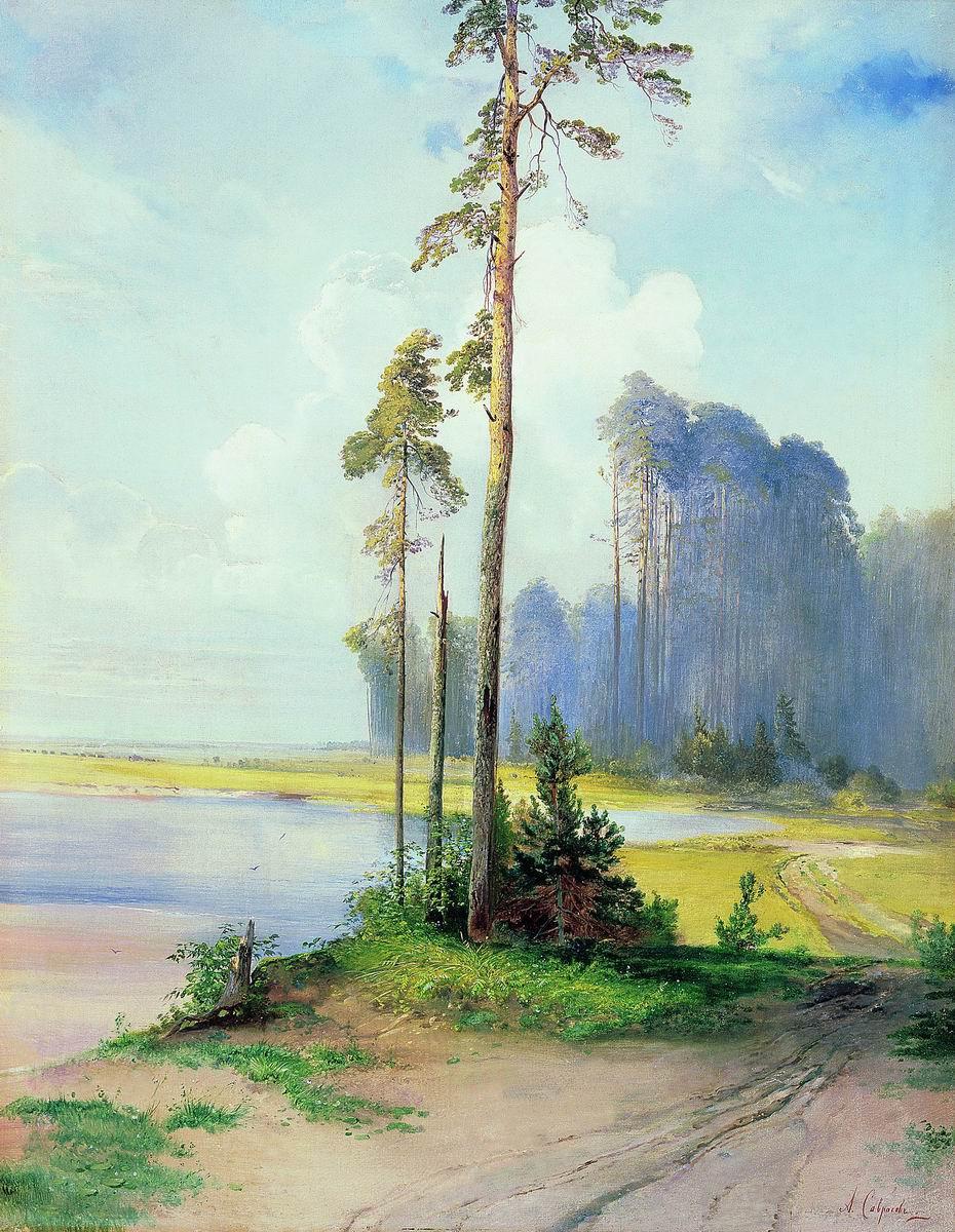 Алексей Кондратьевич Саврасов. Летний пейзаж. Сосны