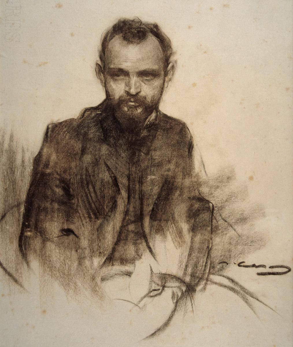 Рамон Касас Карбо. Портрет Хосепа Клары