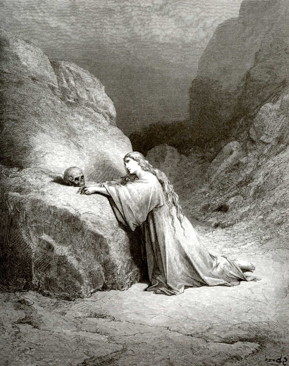 Поль Гюстав Доре. Иллюстрация к Библии: Кающаяся Мария Магдалина