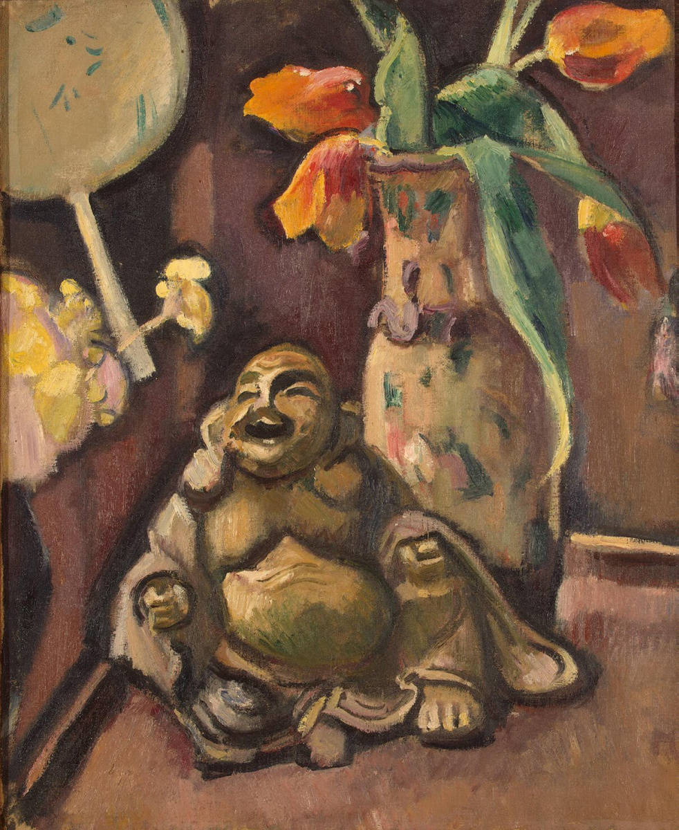 Отон Фриез. Натюрморт со статуэткой Будды