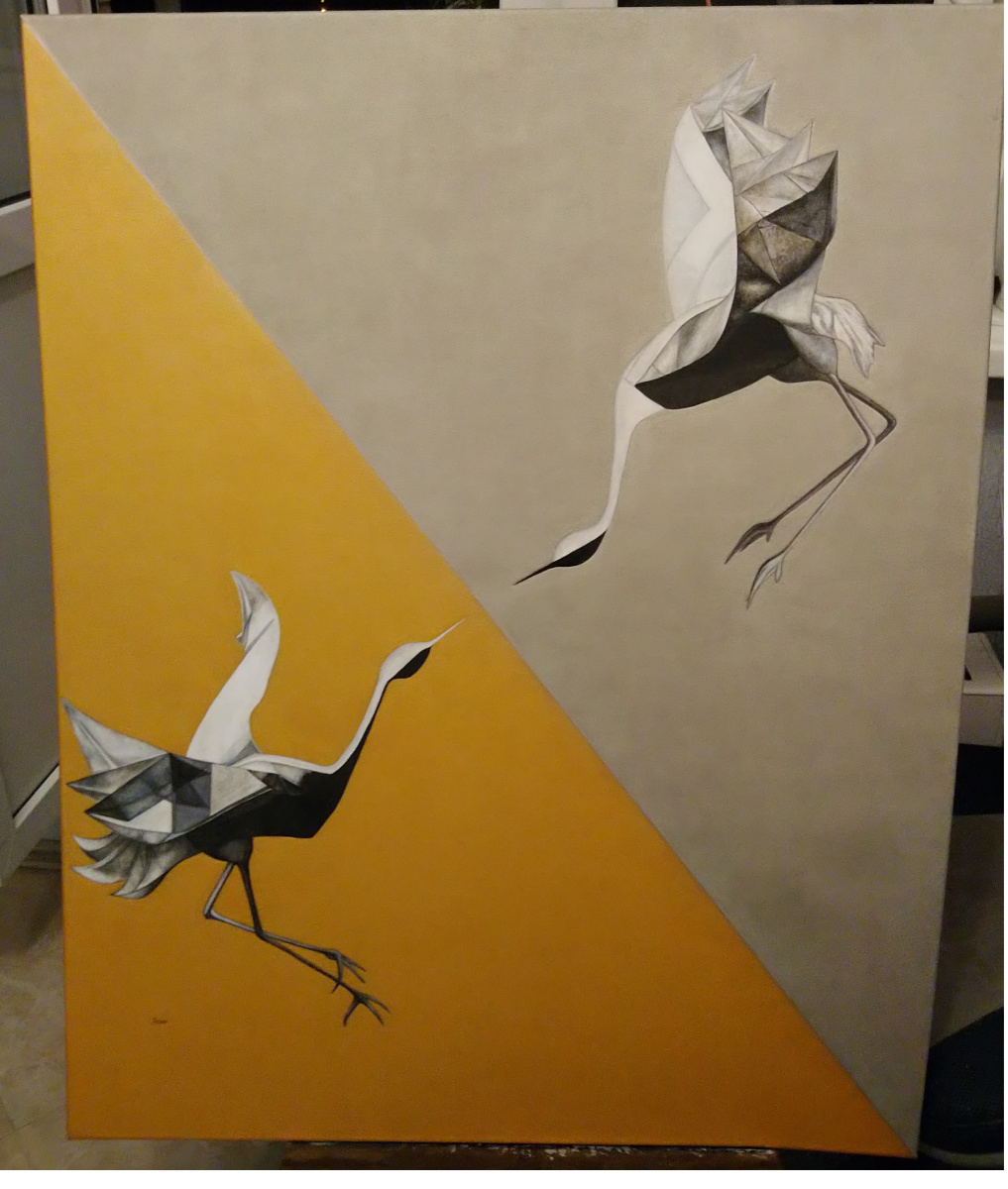 Romina Goroshko. Cranes