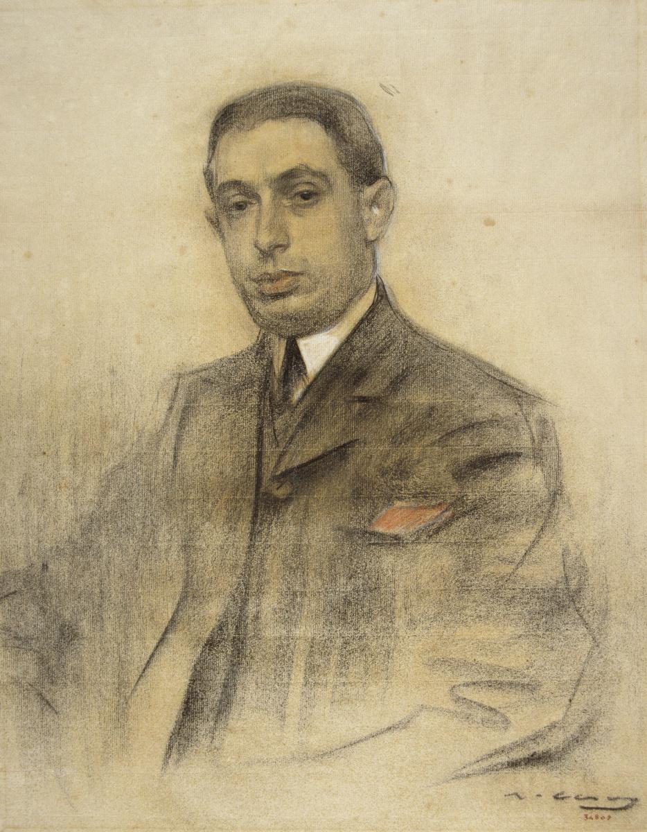 Рамон Касас Карбо. Портрет Ансельмо Фернандеса