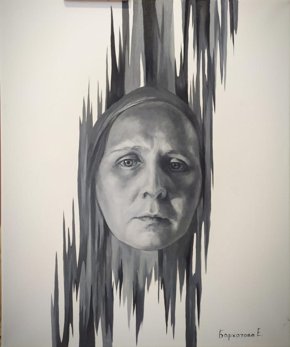 "Ekaterina Evgenievna Barkhatova. Portrait from the series ""Real faces"""
