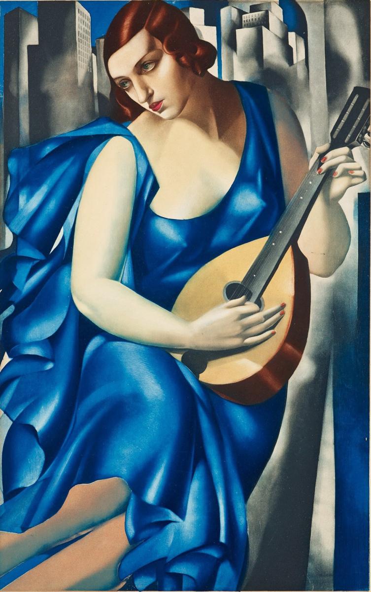 Tamara Lempicka. Woman with mandolin