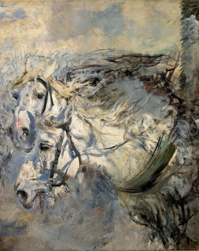 Джованни Больдини. Белые лошади
