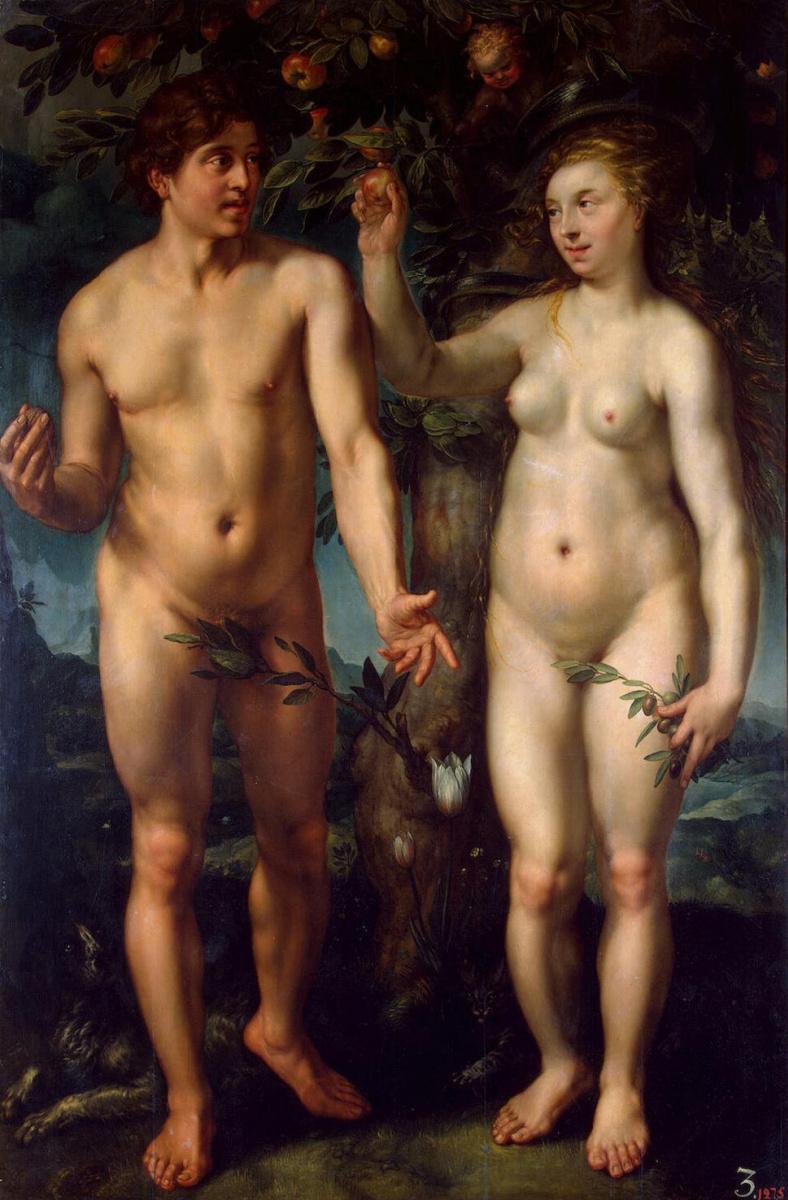 Хендрик Гольциус. Адам и Ева