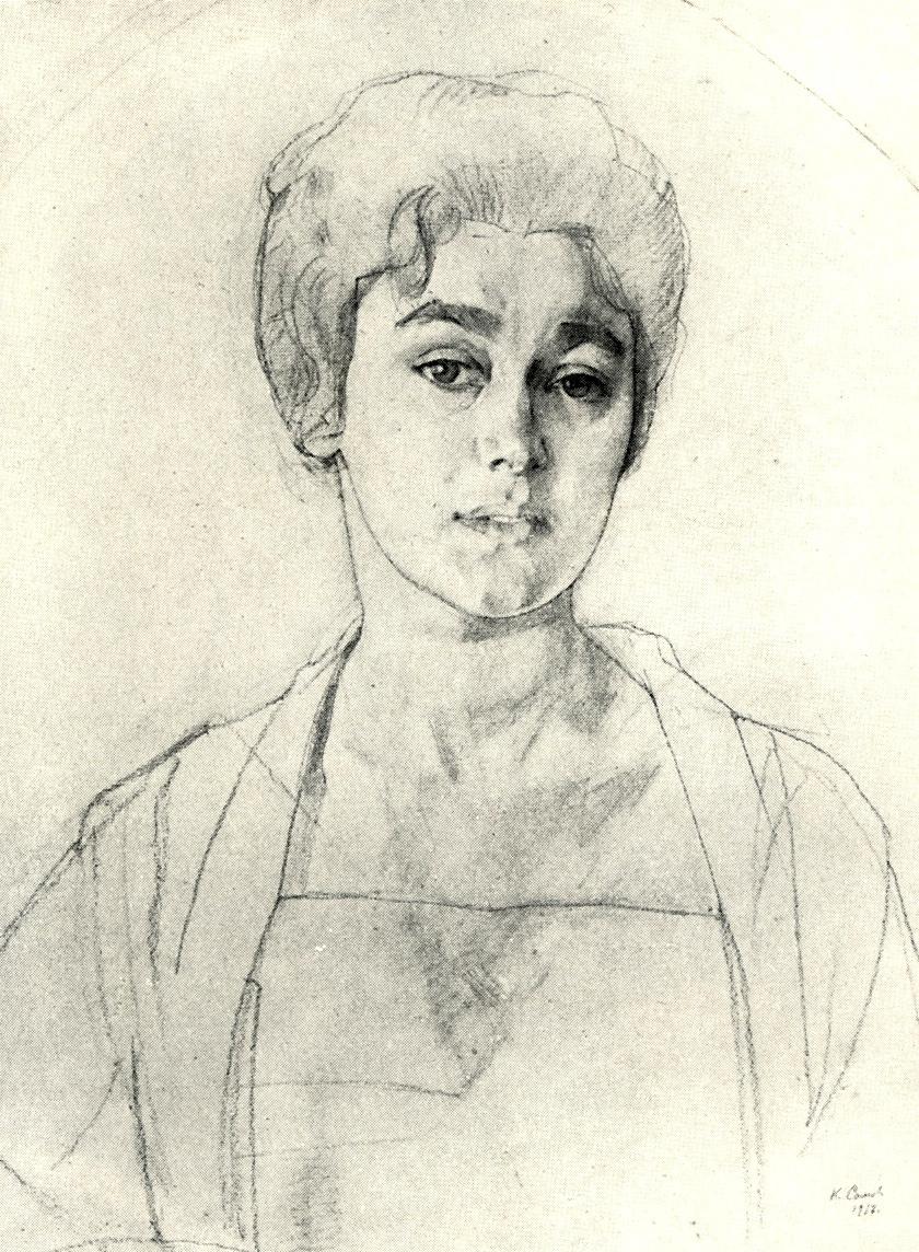 Konstantin Somov. Portrait Of N. G. Vysotskaya. Sketch