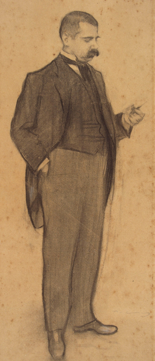 Рамон Касас Карбо. Портрет Мануэля Дюрана Вентосы