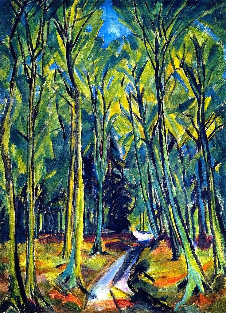 Эрих Хеккель. Тропинка в лесу
