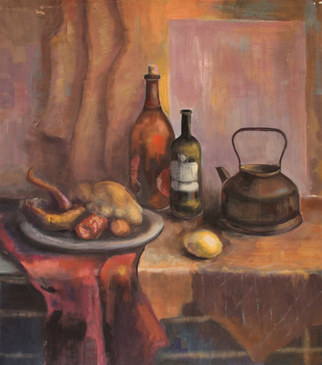 (no name). Still life in warm colors