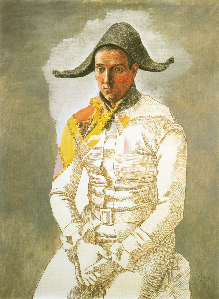 Пабло Пикассо. Арлекин (художник Сальвадо)