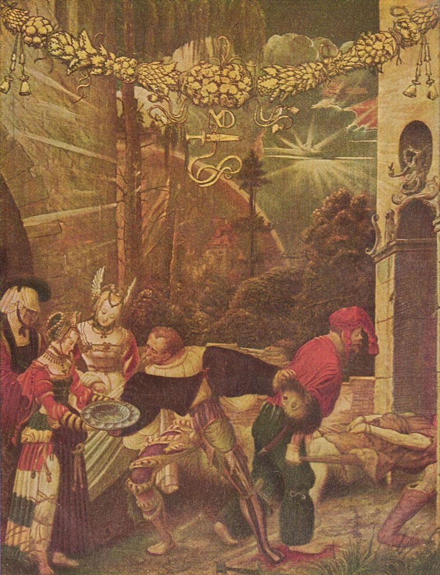 Никлаус Мануэль Дойтш. Усекновение головы Иоанна Крестителя