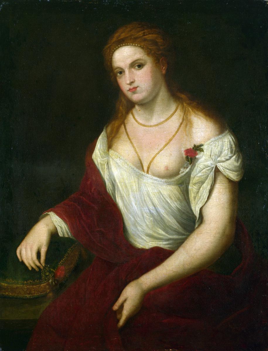 Парижа Бордоне После. Портрет молодой женщины