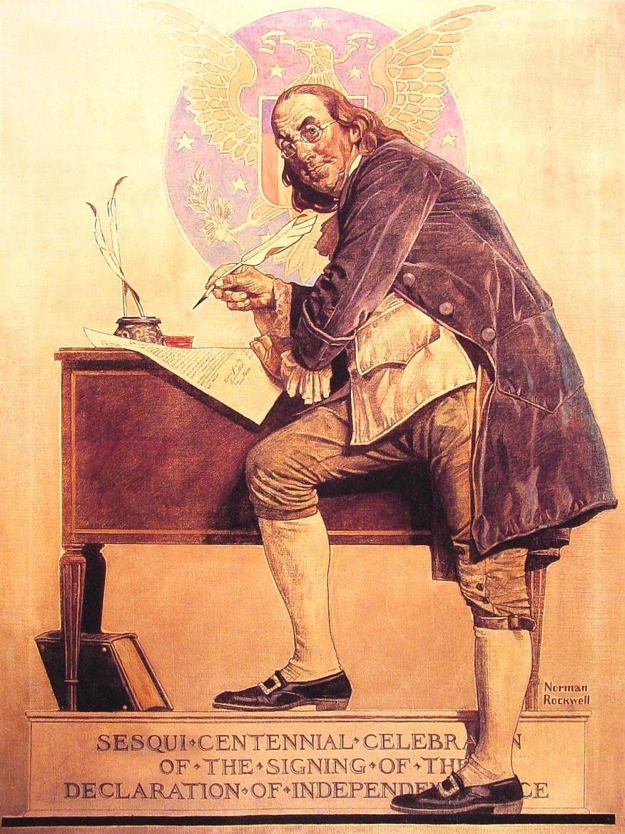 Норман Роквелл. Бенджамин Франклин. Подписание Декларации независимости