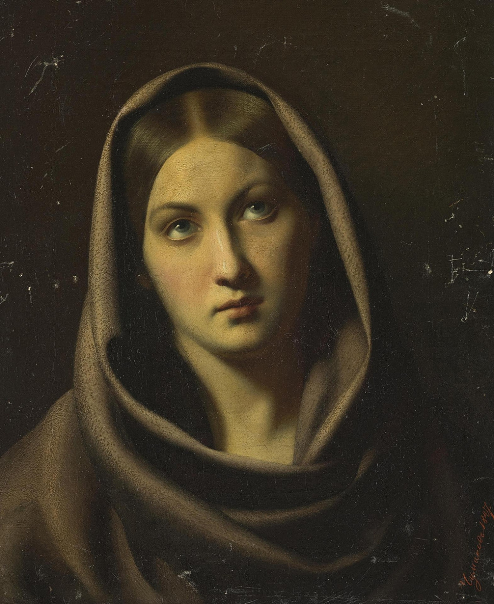 Fedor Petrovich Chumakov. Female head. 1847