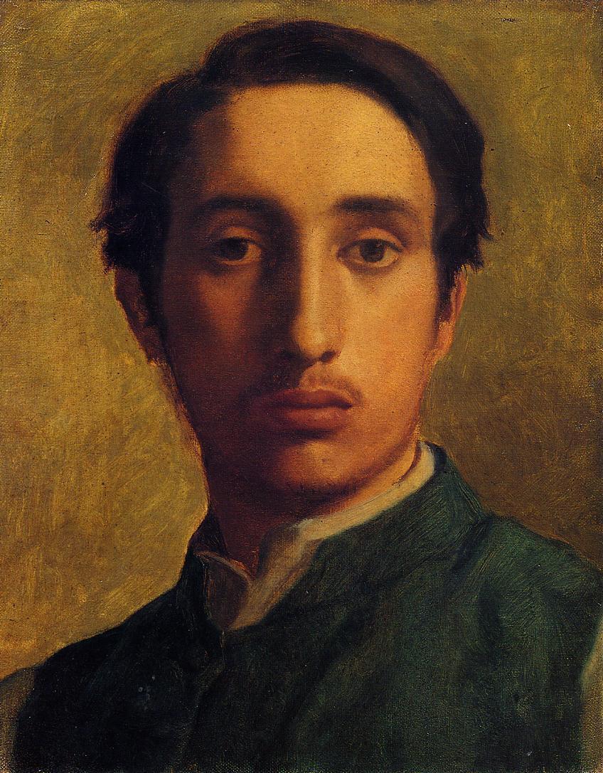 Эдгар Дега. Автопортрет в зеленой куртке