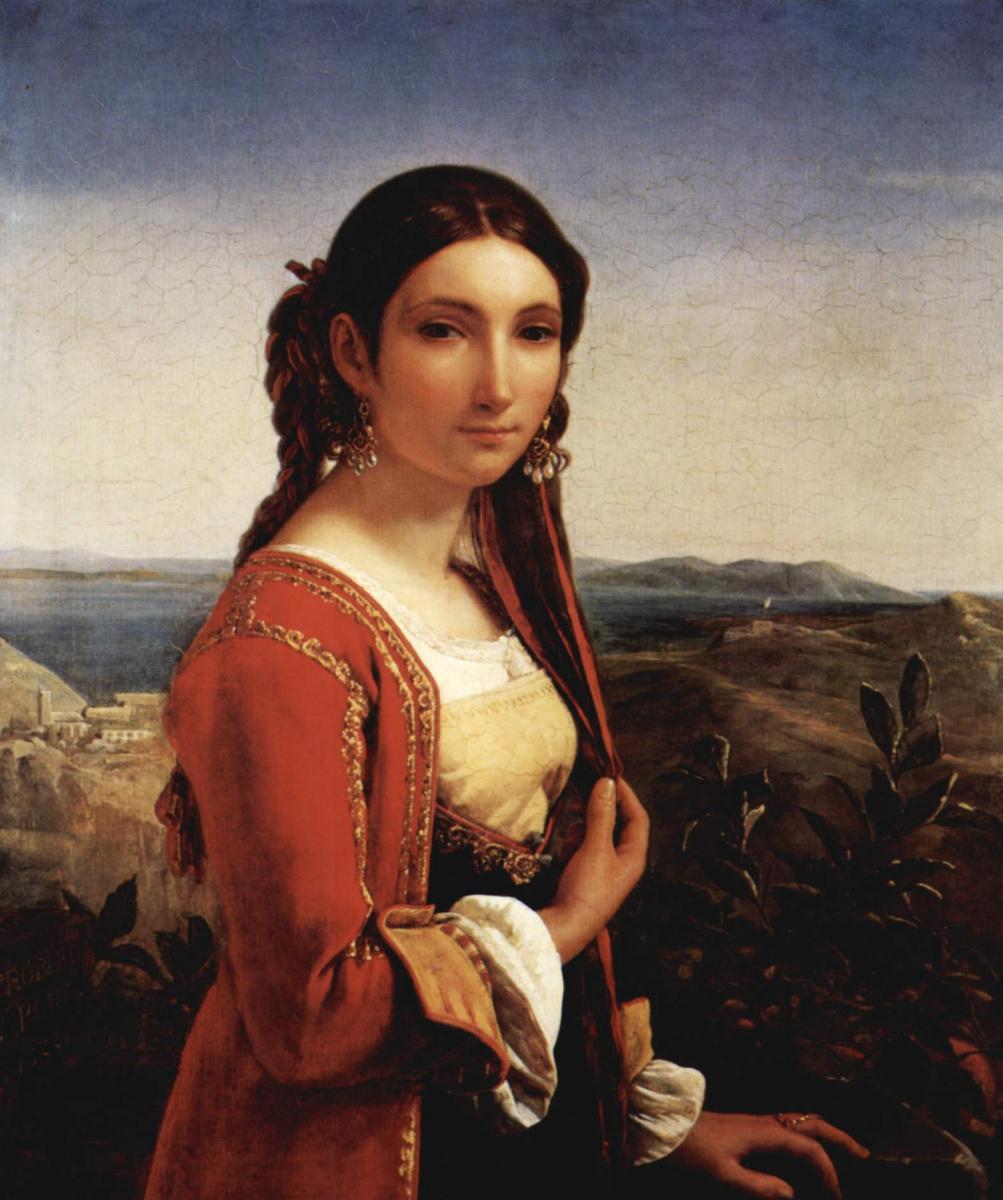 Леопольд Робер. Портрет девушки из Ретуны