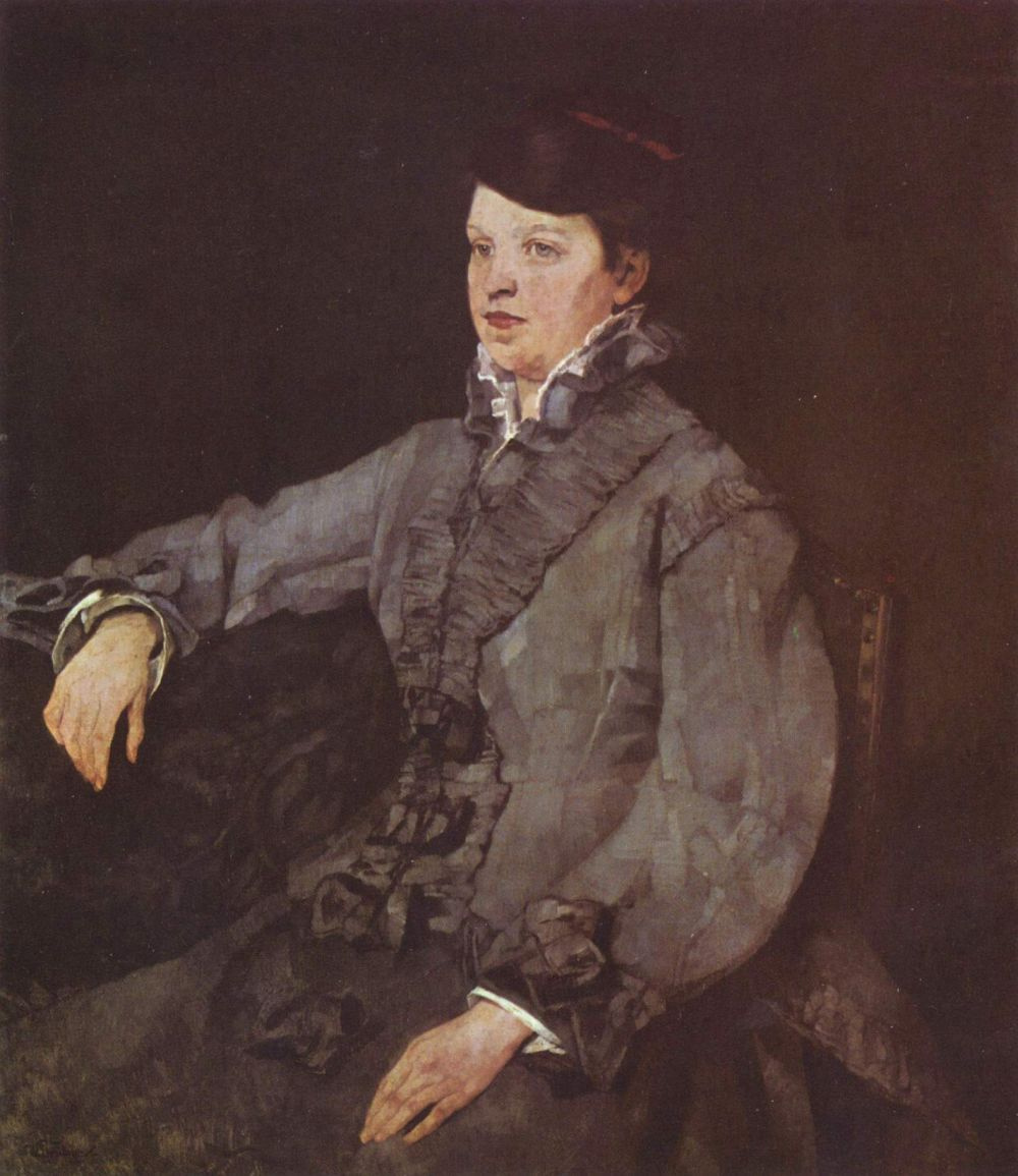 Генрих Вильгельм Трюбнер. Дама в сером