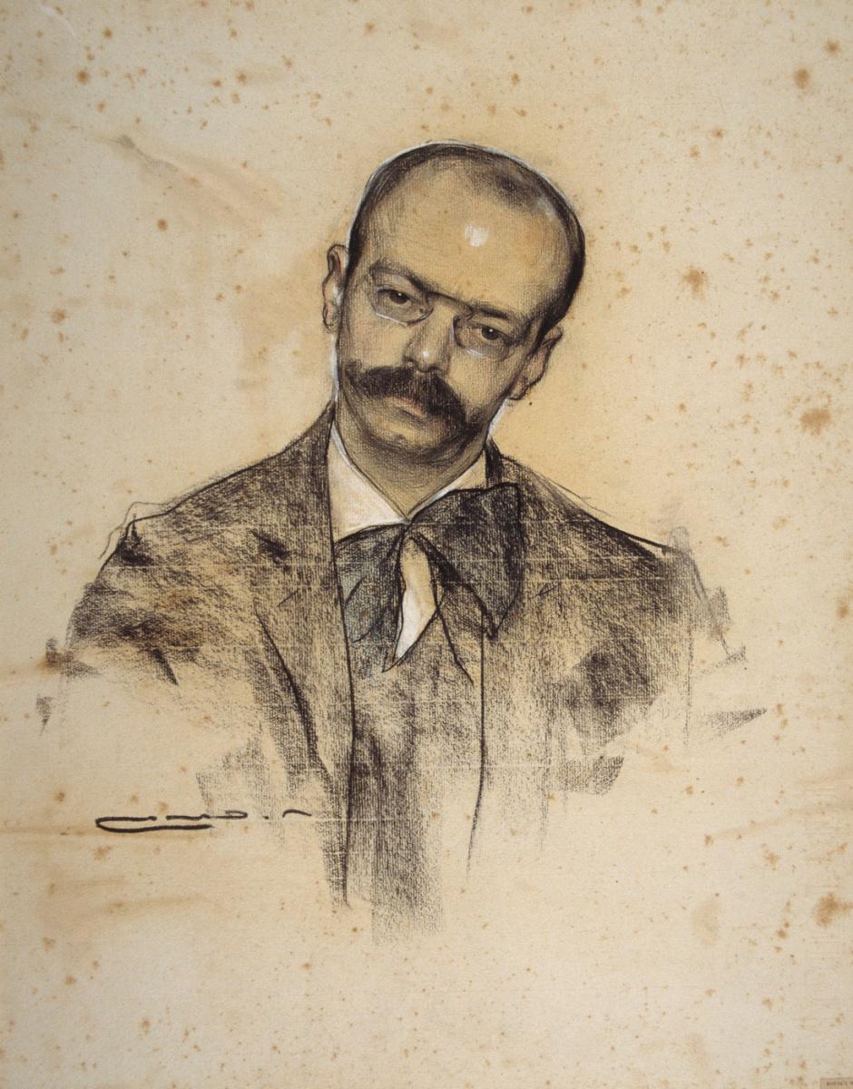 Рамон Касас Карбо. Портрет Габриэля Аломара
