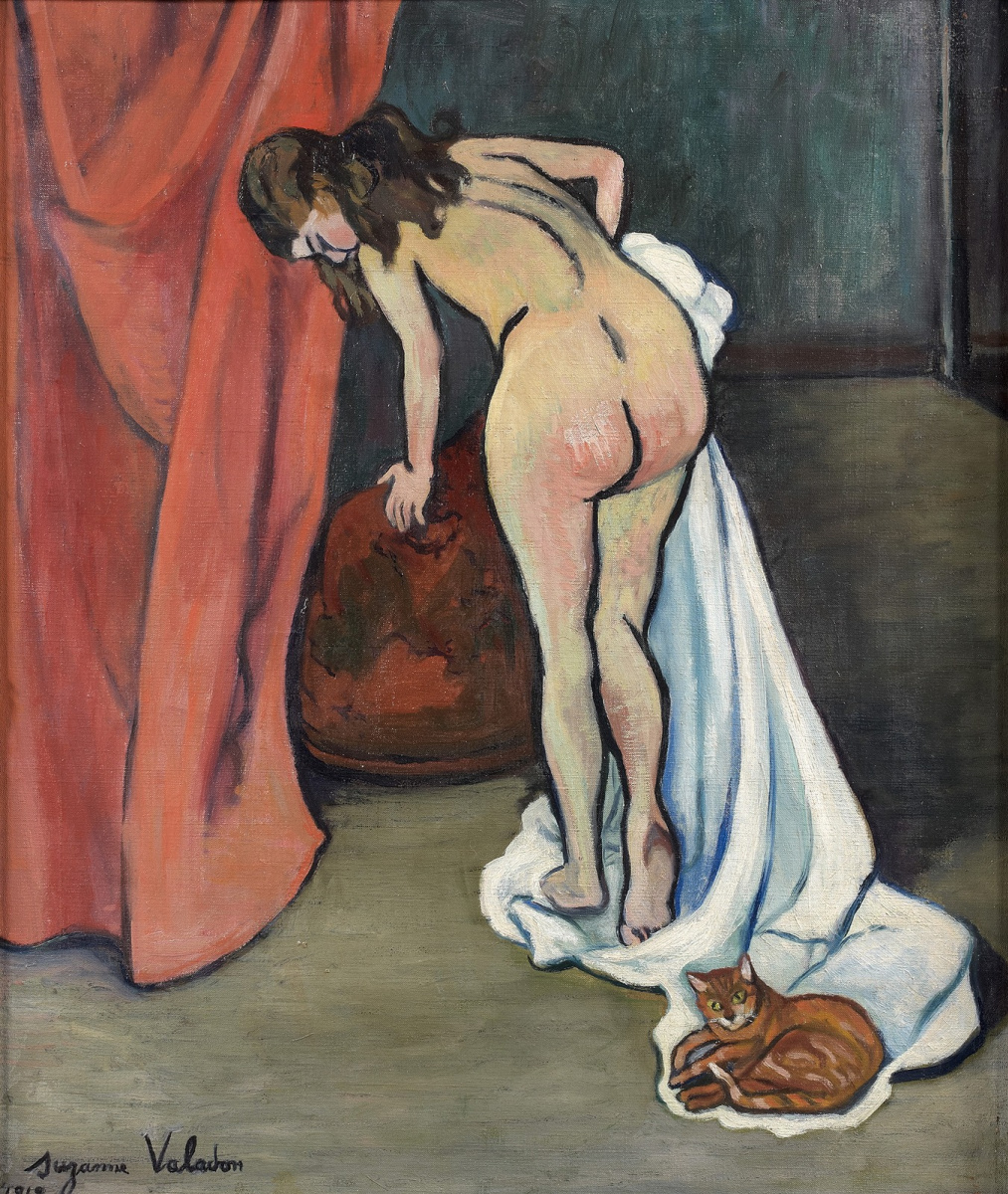 Suzanne Valadon. Standing nude with a cat